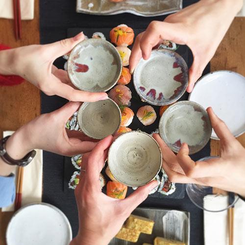 Sake toasting - Kanpai!